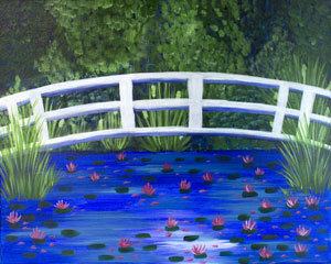 Paint 'n Party @ Bull's Head: Bridge Lillies(3/22)