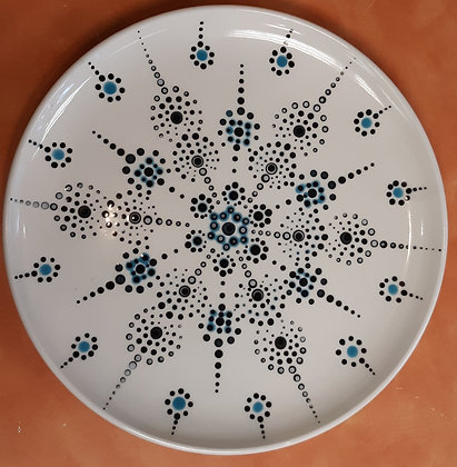 Black and Blue Plate