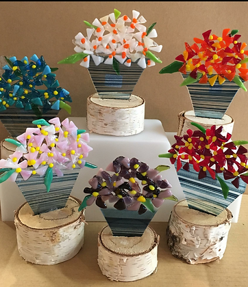 Fused Glass Flowers (2/16)