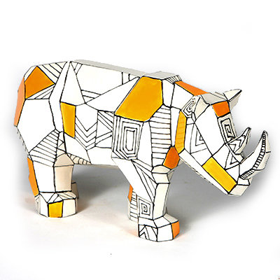 Faceted Rhino (MB1430)