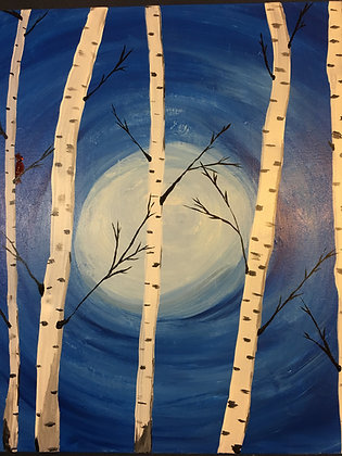 Paint 'n Party @ Coby's: Birch Trees (3/9)