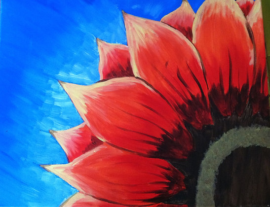 Paint n Party @ The Studio - Red Sunflower (8/22)