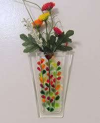 Fused Glass Hanging Vase (3/23)