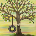Paint 'n Party @ The Studio: Tire Swing Tree (2/4)