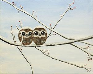 Paint 'n Party @ The Studio: Owl Babies (1/14)