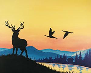 Paint 'n Party @ Bull's Head: Mountain Morn (11/9)