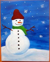 Kids' Paint 'n Party @ The Studio - Snowman(12/21)