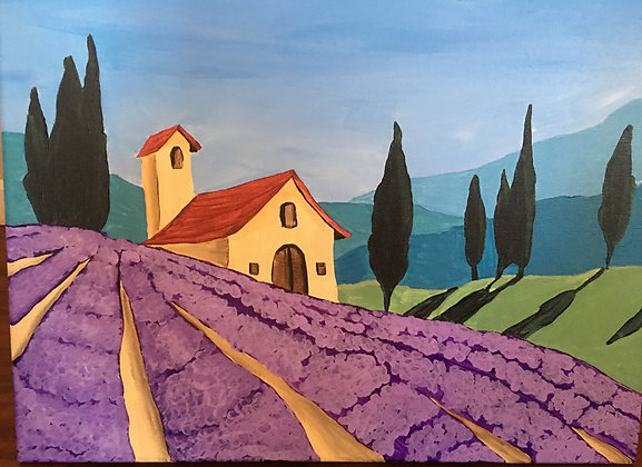 """""""Tuscan Summer"""" Canvas at M'burgh Winery (4/25)"""