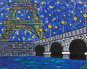 Paint on Canvas - Evening in Paris (7/25)