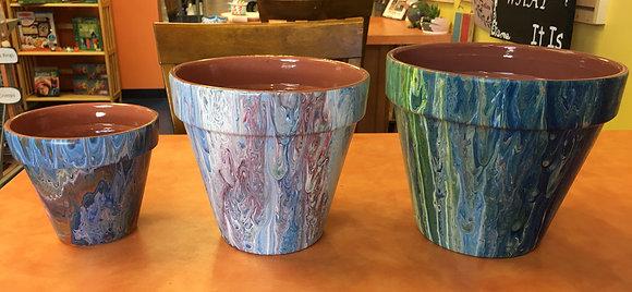 Glazed Terra Cotta Planter (weatherproof)
