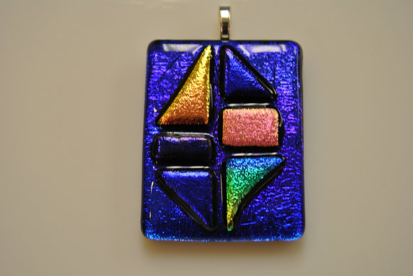 Fused Glass - Pendant or Window Hanger (7/13)