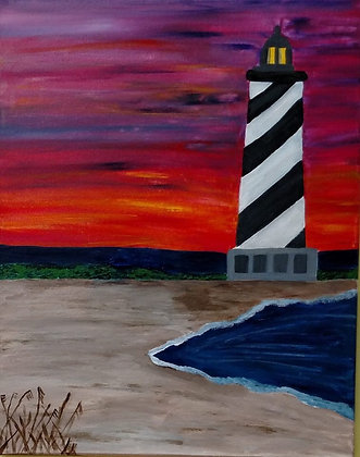 Paint 'n Party @ Coby's - Lighthouse Sunset (5/6)