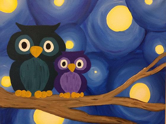 Paint 'n Party @ The Studio - 2 Little Owls (7/29)