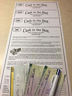 Cash In The Box | Proof of Payments