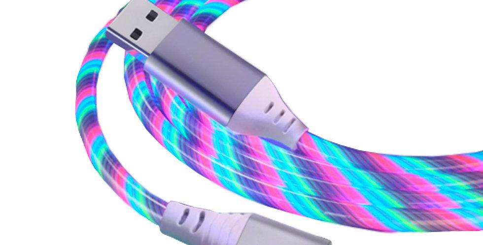 Cable USB-C Smart Tech con luces
