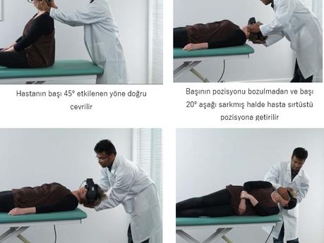Sağ Posterior Kanal BPPV için               EPLEY Kanalit Repozisyon Prosedürü (CRP)