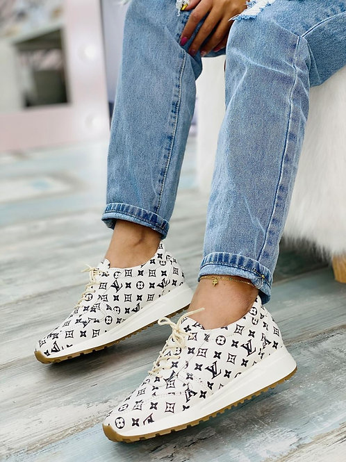 INSPIRED BY LV WHITE TENNIS