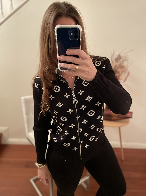 TINA INSPIRED BY LV SWEATER