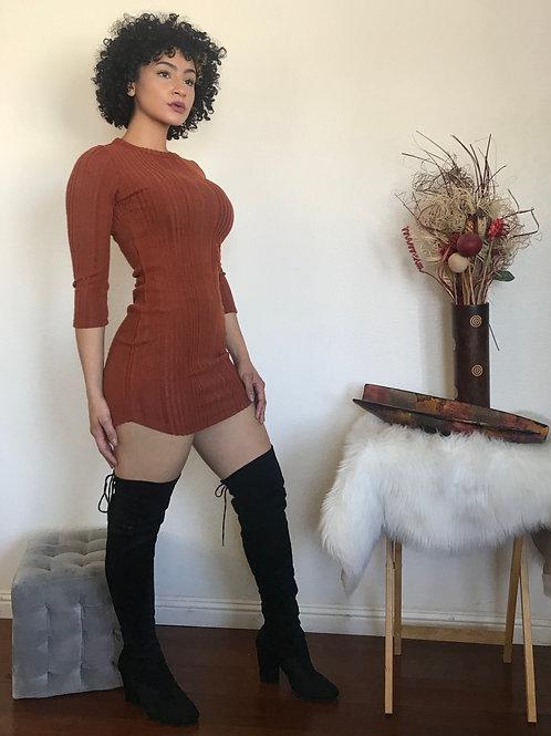 Samantha Rust Dress