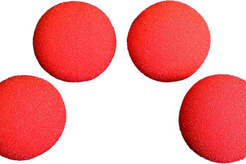 Bolas de esponja super soft  rojas 7,62 cm