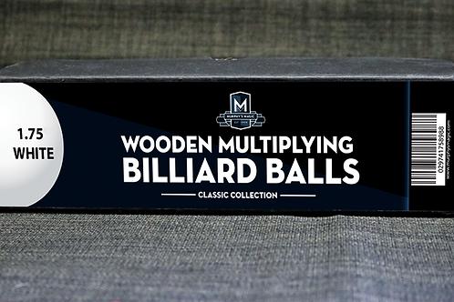 Bolas manipulación madera blancas