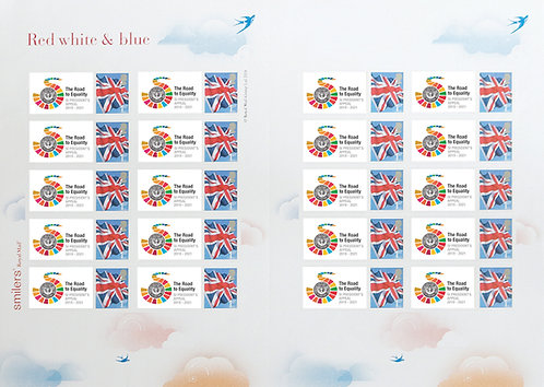 Full sheet of 20 Stamps - The World