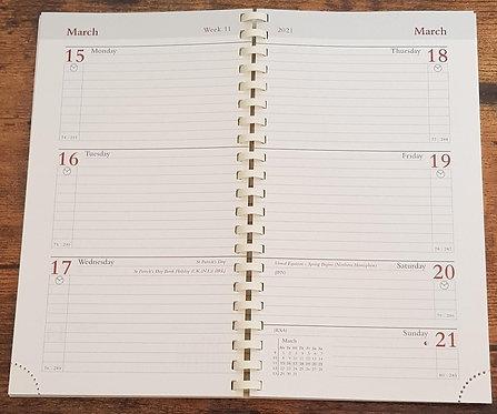 2021 Diary Insert