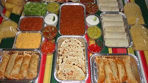 Kit mexicano para buffet a domicilio