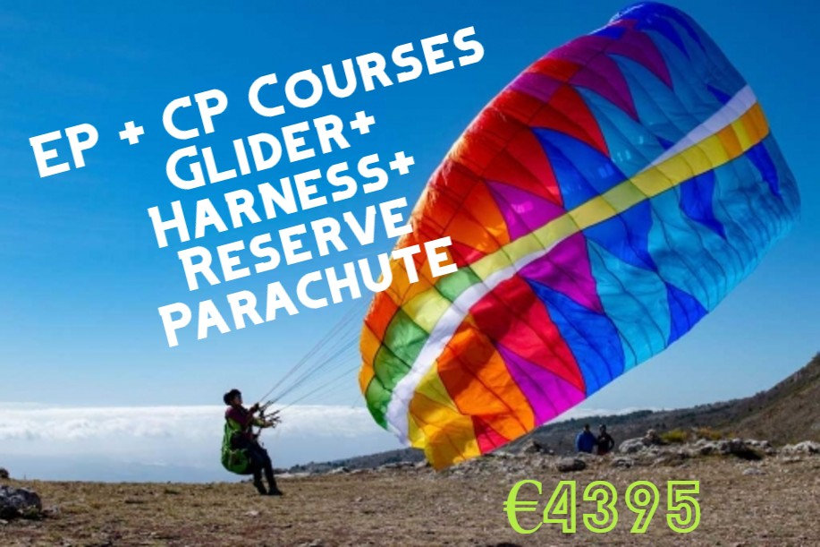 paraglider training and equipment package