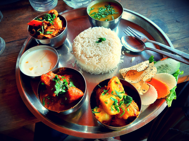 Nepal thali meal
