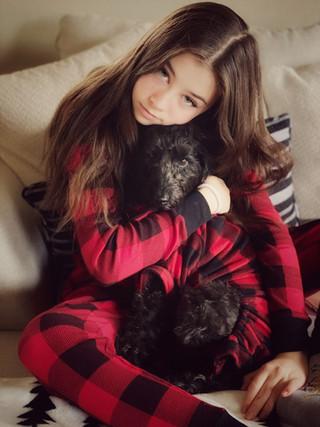 Fur baby and his human