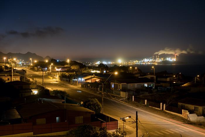 Nacht über Huasco