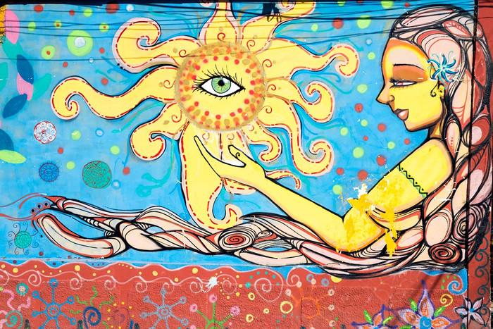 Kosmische Streetart in Vicuña