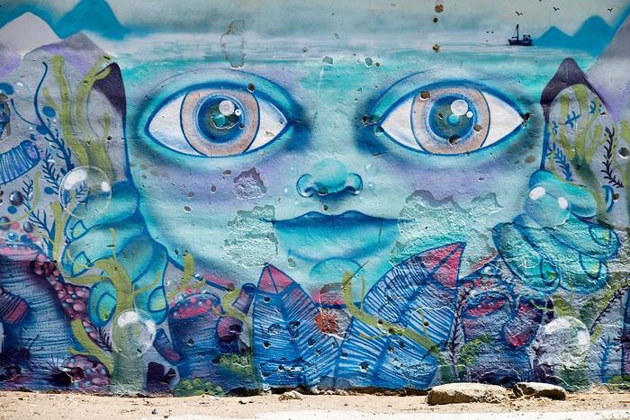Streetart in Ruinen | 4 Fotos