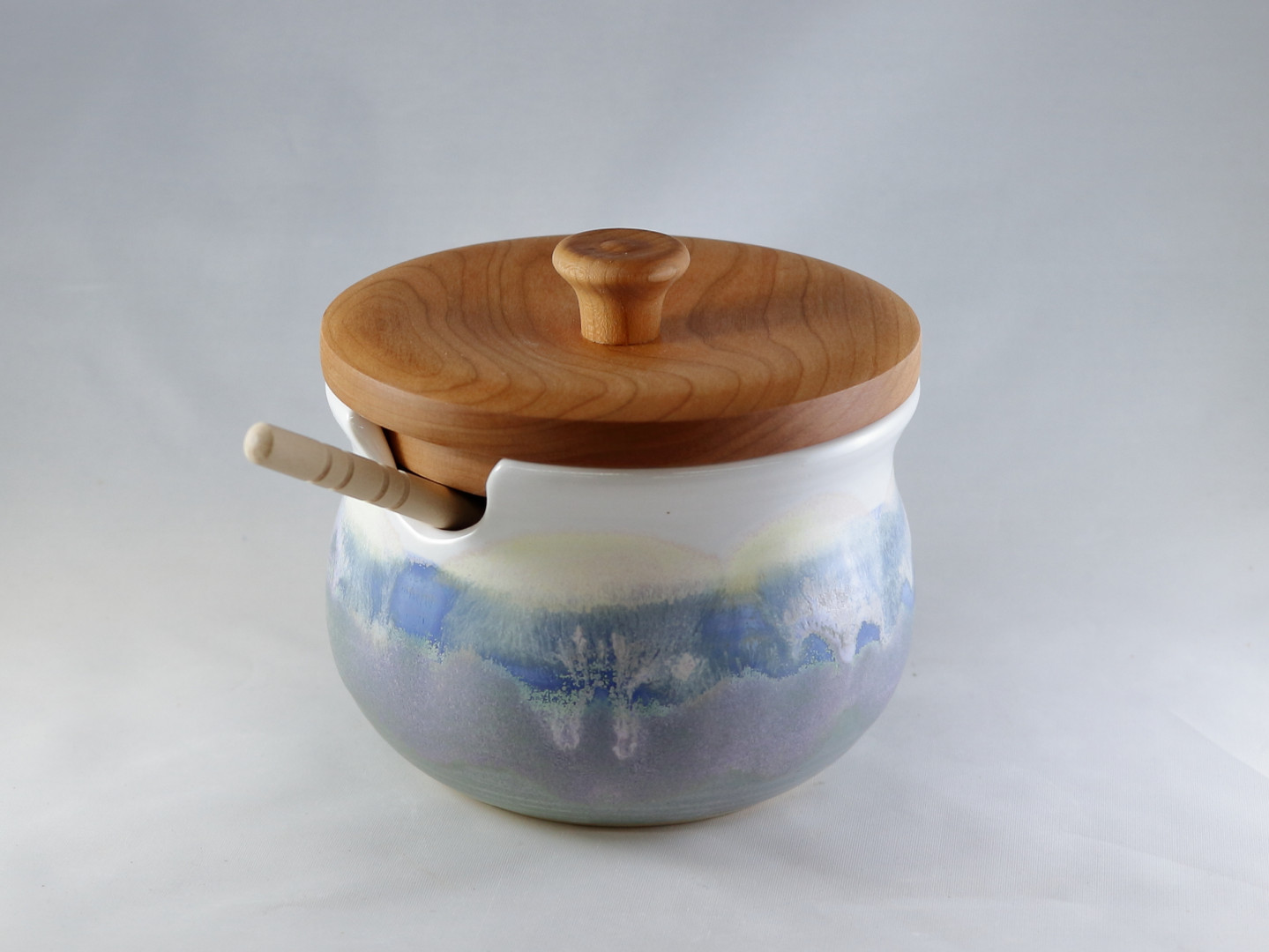 Painted Sky Honey Pot with Cherry