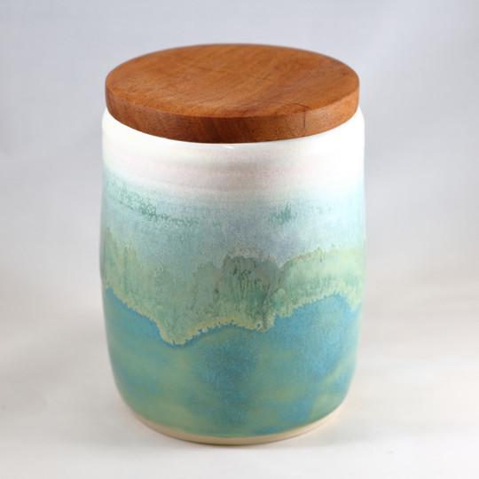Seaglass with Mahogany