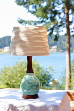 Seaglass with Walnut