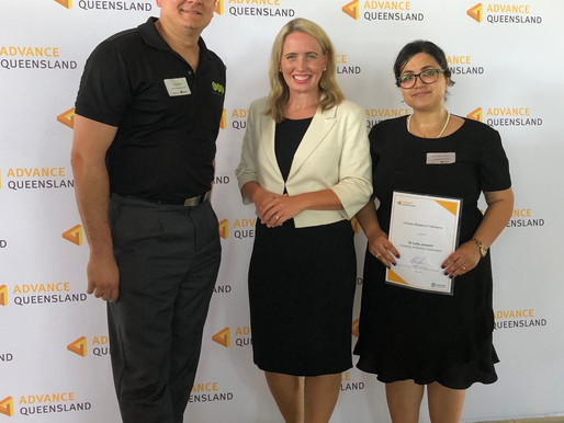 GMG supported Dr Leila Javazmi from USQ awarded Advanced Queensland Industry Fellowship