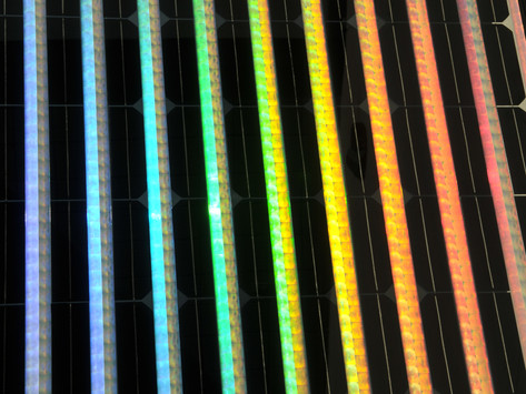 SOLAR PANELS WITH RAINBOW COLOURS