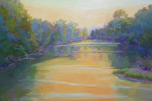 'White River II Dusk'