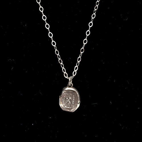 """First City Silver """"Without You I Die"""" Necklace"""