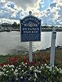 Ludingotn Petunia Parade sign at city ma