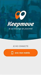 Keepmove covoiturage de proximité application mobile