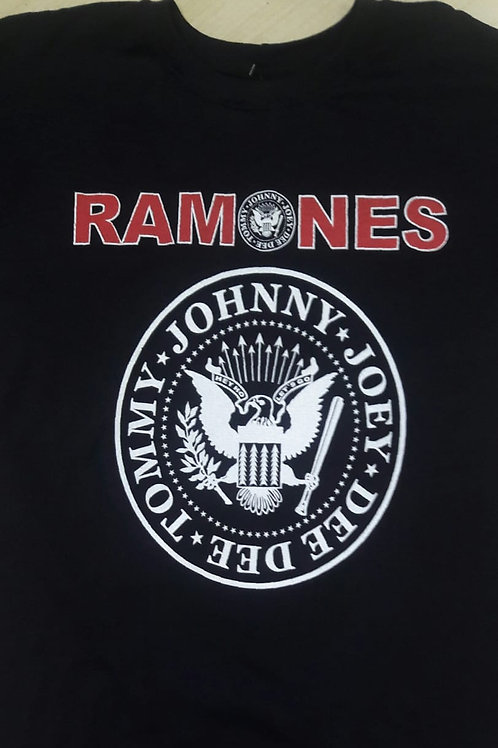 Camiseta Ramones Brasão Preto Power Rock PRRM4