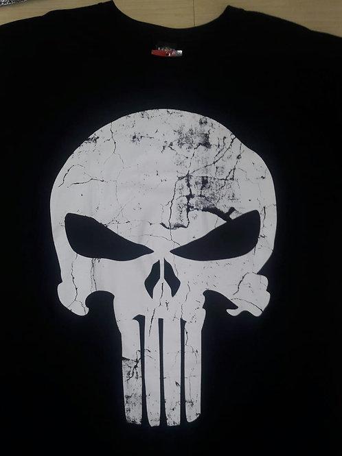 Camiseta Justiceiro Caveira Envelhecida Preto HCDJ01
