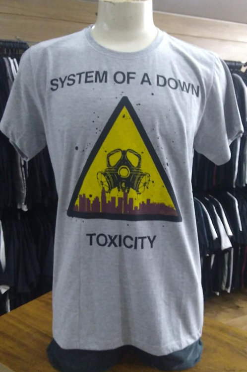Camiseta System Of A Down Toxicity Cinza Mr. Baboo MBST03