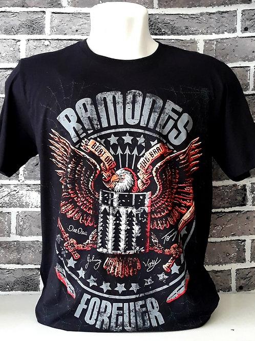 Camiseta Ramones Forever Preto Bomber  BORM1