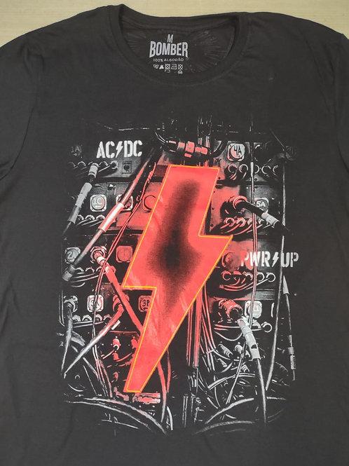 Camiseta AC/DC Plus Size PWRUP  Bomber - BOZAD2