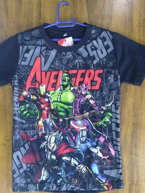 Camiseta Infantil Avengers Sublimada CIAV02