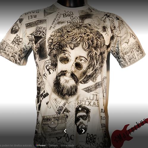 Camiseta Raul Seixas Full Branca Marrockus MRS1